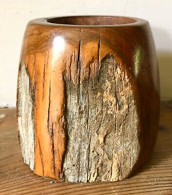 Fine Antique Naturalistic Wooden Chinese Brush Pot??