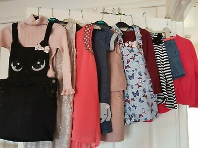 Girls clothes bundle age 5-6 years - 10 Items - Next, M&S, H&M