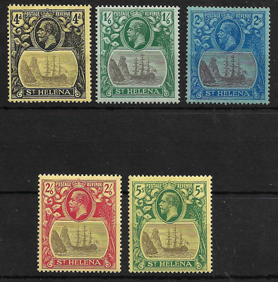 St. Helena 1922 KGV Complete Set of 5 SG92-96 MLH