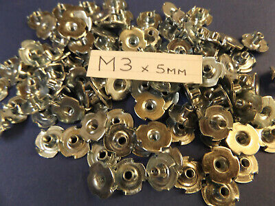 Pack of 5000...M3 x 5mm.. 4 PRONGED CAPTIVE TEE NUT. WOOD FURNITURE T/NUT= £149