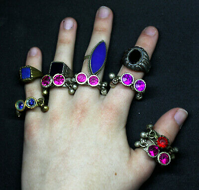 Boho Rings (Kuchi Ring Set) - Antique Post-medieval Joblot 2