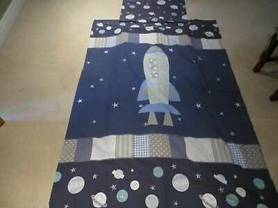 Dunelm Space and Rocket theme Duvet (single)