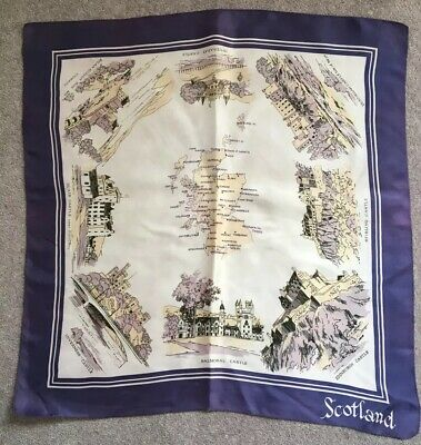 Beautiful Vintage Scarf Scotland Scenes 1940's?