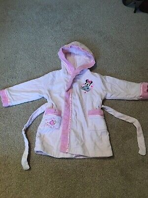Age 12-18 Month Pink Minnie Mouse Disney Dressing Gown