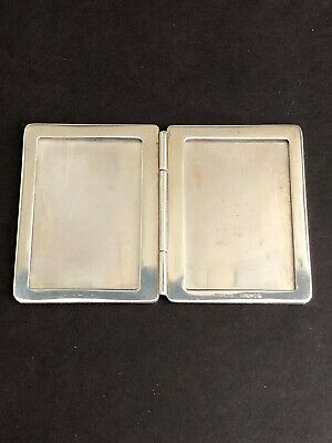 TIFFANY & Co. STERLING SILVER DOUBLE FOLDING TRAVEL MINIATURE PICTURE FRAME