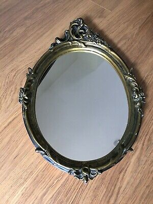 Large Golden Ornate Wall Mounted Mirror (Antique, French, Baroque, Rococo Style)