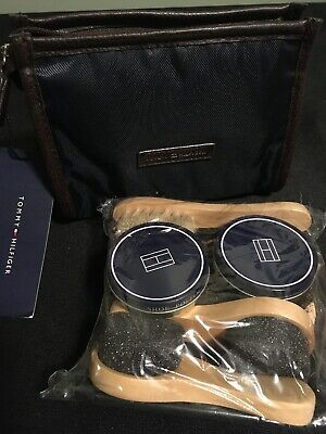 Tommy Hilfiger Shoe Shine Kit New In Zip Bag Pouch