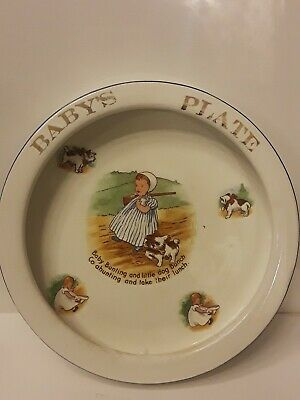 Baby's  Plate  Trenle China  Co. Baby Bunting  7.5''  Vintage