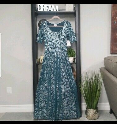 NWT LuLaRoe Size Small Ana Elegant Collection Disney Frozen Elsa Dress *UNICORN*