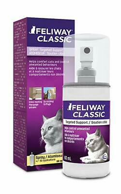 Feliway Classic Pheromone Spray Diffuser for Cats Anxiety Relief Stress 60ml
