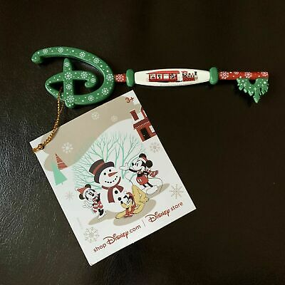 Disney Store Limited Edition Mickey's Holiday Express Christmas Collectible Key!
