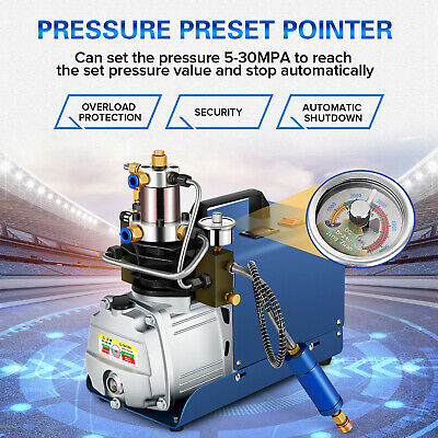 KWASYO 30MPA 4500PSI High Pressure Air Compressor PCP Airgun Scuba Air Pump US