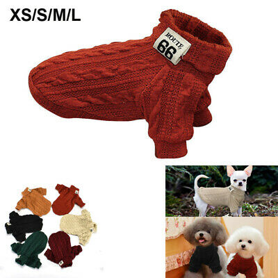 Cute Knitted Dog Jumper Pet Clothes Sweater For Small To Medium Dogs Coat Xmas