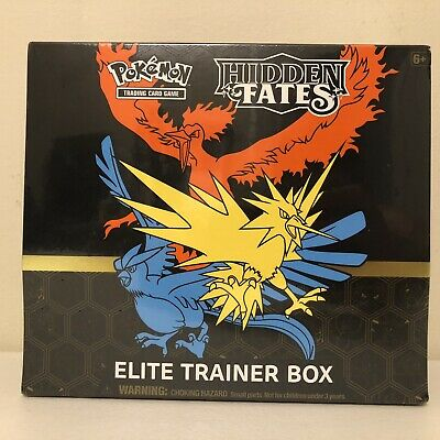 $0.99!! Pokemon TCG Hidden Fates Elite Trainer Box NEW Sealed 10 boosters total