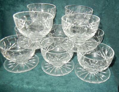 (10) Waterford Crystal Lismore Footed Desserts Excellent