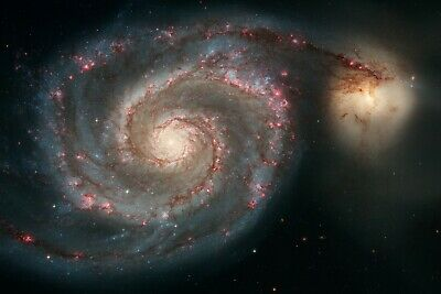 Whirlpool Galaxy Hubble Telescope Image Space POSTER Multiple Sizes 11x17-24x36