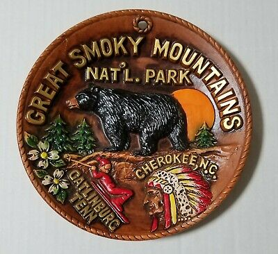 Vintage Great Smoky Mountains National Park Collectors Decorative Plate Ceramic