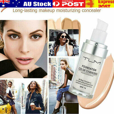 TLM 30ML Flawless Color Changing Foundation Makeup Base Liquid Cover Concealer