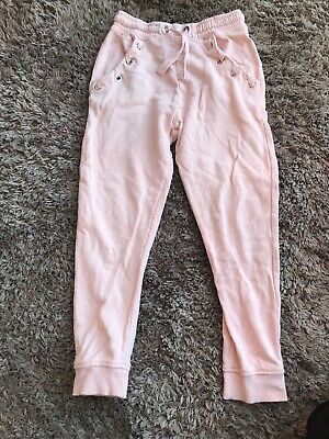 Girls Next Pale Pink Joggers Age 7