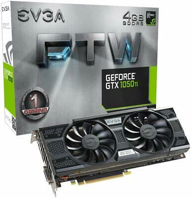 Evga FTW ACX 3.0 Nvidia GeForce GTX 1050 Ti 4GB GDDR5 Gaming Graphic Cards