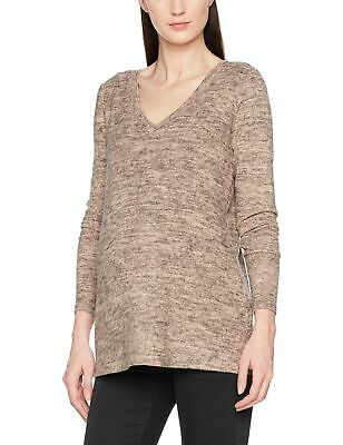 Mamalicious Women's Mlkelly Lounge L/s Knit Top V Bf Maternity Jumper