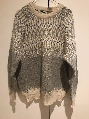 Highland Craft 100% Pure Wool Jumper Size L Men's Ladies Great For Winter