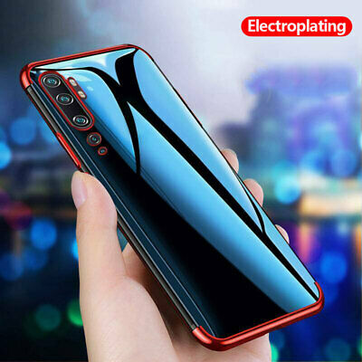 For Xiaomi Mi Note 10 Pro 9 Lite 9T Electroplating Clear Silicone TPU Case Cover
