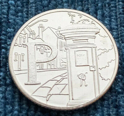 2019 Alphabet Letter P 10p Post Box Royal Mint Great British Coin Hunt Ten Pence