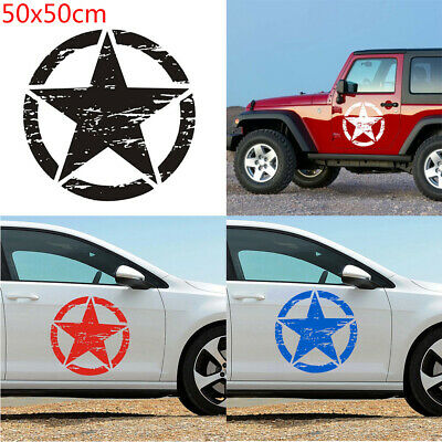 Graphic  Off Road Vinyl Auto Decal Car Hood Sticker Army Star For Jeep Wrangler