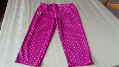 Under Armour Leggings Youth Large YLG Fitted All Season Gear Polka Dots Girls