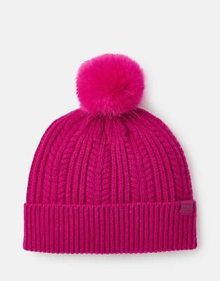 Joules 207389 Cable Hat in DEEP FUCHSIA in One Size