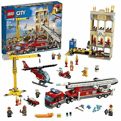 LEGO City Downtown Fire Brigade Crane Truck Copter Set 60216