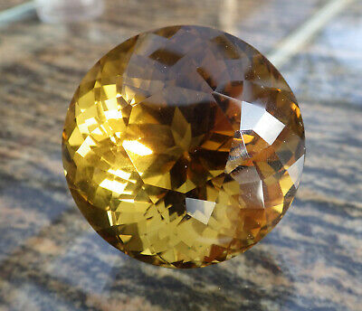 Citrine De Collection 381 Carats / Certifiee / Bresil