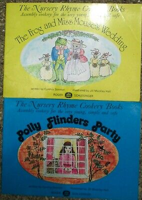Lot of 2 Nursery Rhyme Cookery Books Polly Flinders Party/ Frog and Miss Mouse's