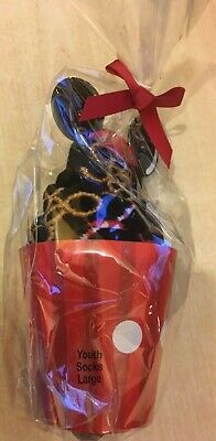 New Disney Parks Mickey Mouse Food Icon Cupcake Socks for Kids Size Youth Large