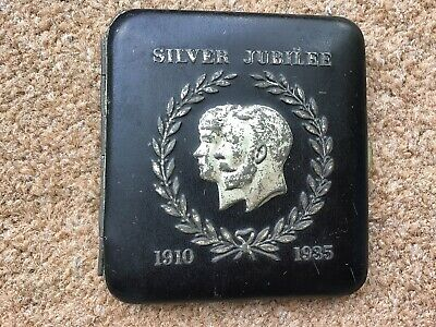 WW1 George V & Queen Mary Silver Jubilee Cigarette Case