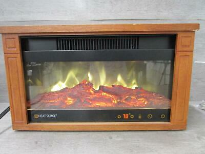 """Heat Surge Heated Faux Fire Place 10"""" tall Works Tested"""