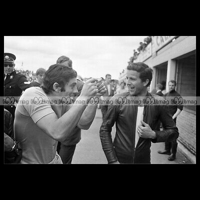 #phm.56694 Photo GIACOMO AGOSTINI PHIL READ DUTCH TT ASSEN GRAND PRIX 1968 Moto