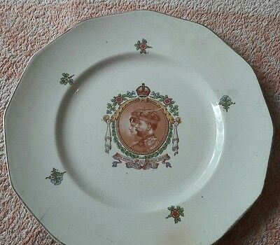 King George Queen Mary plate