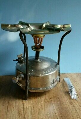 antique Brass no.2 camping cooking Kerosene stove  indoor outdoor