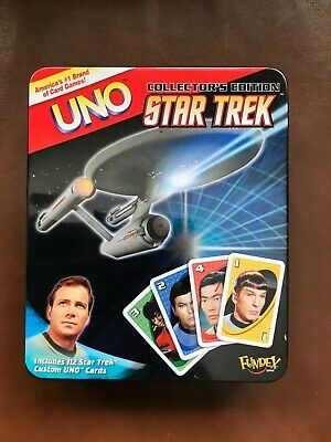 UNO Star Trek Card Game Collector's Edition In Tin Fundex 2008 Complete & Unused