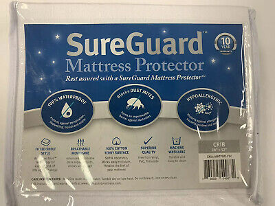 New Sureguard Mattress Protector For Crib/Toddler Bed 28x52 Waterproof