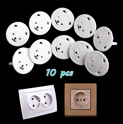 10 pcs-Anti shock electric plugs child safety cover protector