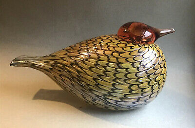 Estate Signed Oiva Toikka Large Bird Sleeping Summer Grouse Finn Fest Finland
