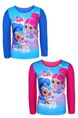 Girls 100/% Cotton  Shimmer /& Shine Short Sleeve Printed T-Shirt 2-6 years