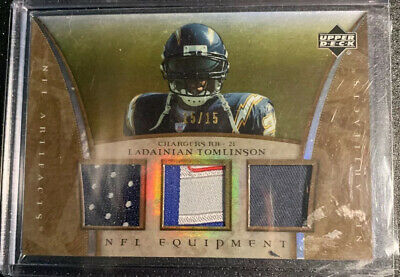 2007 Upper Deck Artifacts Laundry Tag LaDainian Tomlinson Triple Relic #15/15
