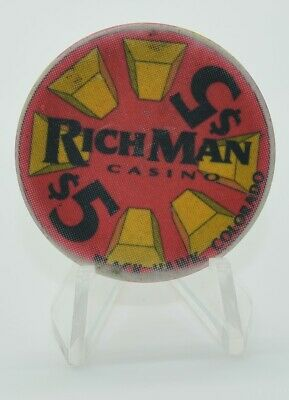 Rich Man $5 Casino Chip Black Hawk Colorado ChipCo.