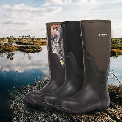 Hisea Hunting Boots for Men Waterproof Insulated Mens Neoprene, Camo, Size 11.0