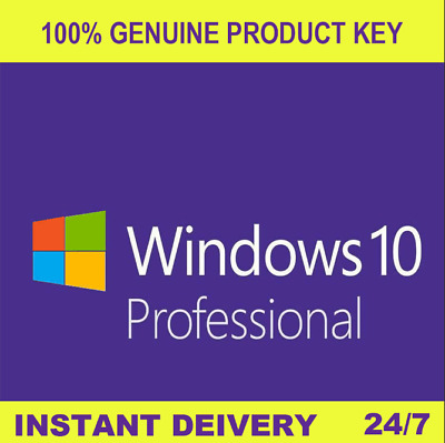 Instant Windows 10 Professional 32|64 Bit Genuine Activation License Key