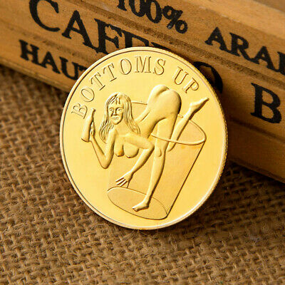 Sexy Girl Coin Adult Novelty Gold Plated Commemorative Challenge Coin Art VBUK
